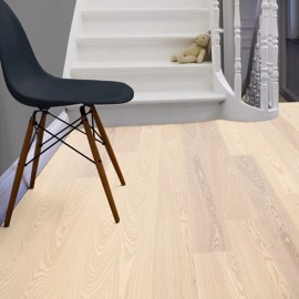 Ask Shade Linen Plank Hvit Mattlakk 162mm<br/ > Tarkett plank ask